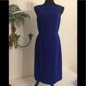 Tahari Royal blue sleeveless lined dress size 6